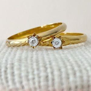 🎉5/20 SALE🎉 set of 2 vintage gold tone rings